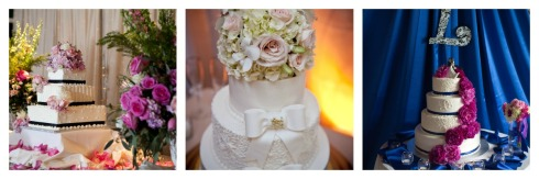 Floral Design added to Wedding Cakes.