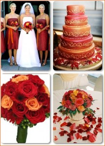 Or 3 Colors Next To Each Other On The Color Wheel Below Is An Example Board For A Red And Orange Wedding Which Usually Popular Fall