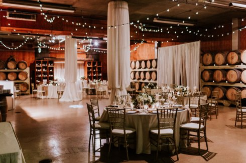 Drew + Kevin Chateau Elan Cask Room | Design House Weddings & Events